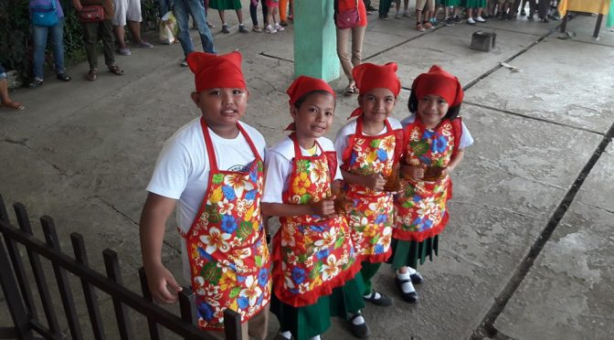 Cooking Contest among grade students in Philippines