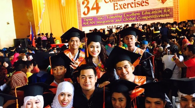 Graduation ceremony of Muslim girls and boys of the School of Nursing in Sulu State College in the Philippines