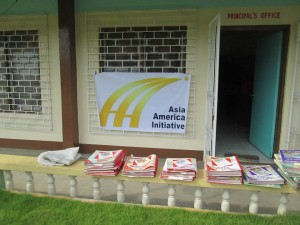 Donated Books - Tina National High School, August 2014